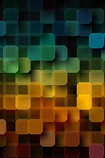 Preview iPhone wallpaper Many squares, colorful, abstract