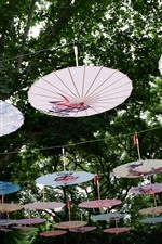 Many umbrellas, Chinese culture