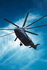 Preview iPhone wallpaper Mi-26 helicopter, blue sky, clouds
