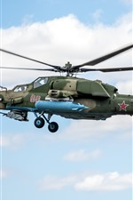 Preview iPhone wallpaper Mi-28 helicopter, Russian