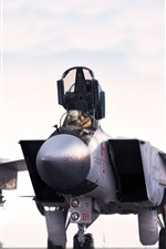 Preview iPhone wallpaper MiG-31 fighter front view, wings