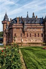 Preview iPhone wallpaper Netherlands, Castle De Haar, garden