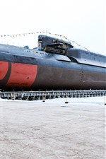 Preview iPhone wallpaper Nuclear submarine, navy