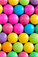 Preview iPhone wallpaper Rainbow colors candy, pills
