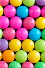 미리보기 iPhone 배경 화면 무지개 색깔 사탕, 알약