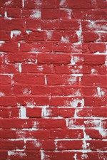 Preview iPhone wallpaper Red bricks wall, texture