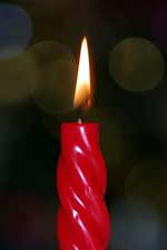 Preview iPhone wallpaper Red candle, flame, fire