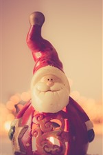 Preview iPhone wallpaper Santa Claus toy, New Year