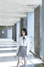 Preview iPhone wallpaper School girls, photography