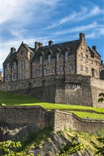 Preview iPhone wallpaper Scotland, Edinburgh Castle, blue sky