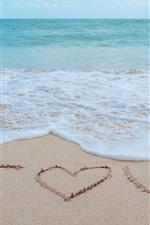 Mar, espuma, praia, eu te amo