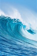 Sea wave rolls, water splash