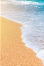 Preview iPhone wallpaper Sea, waves, foam, beach