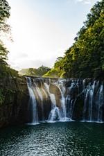 Preview iPhone wallpaper Shifen waterfall, Taiwan