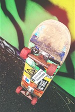 Preview iPhone wallpaper Skateboard, wheels