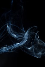Preview iPhone wallpaper Smoke, darkness