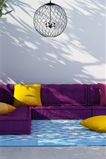 Preview iPhone wallpaper Sofa, colorful cloth