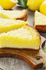 Preview iPhone wallpaper Some slices of cakes, lemon