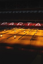 Preview iPhone wallpaper Spartacus Football Stadium, night, lights
