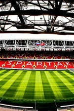 Preview iPhone wallpaper Spartak Stadium, football, Moscow, Russia