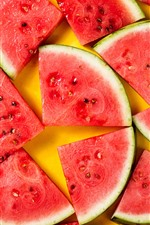 Summer fruit, some slices of watermelon