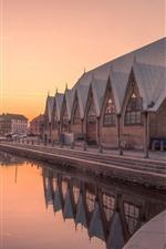 미리보기 iPhone 배경 화면 스웨덴, 예테보리, 강, 도시