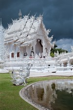 Preview iPhone wallpaper Thailand, Chiang Rai, White Temple