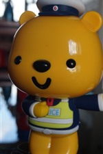 Preview iPhone wallpaper Toy bear, police