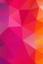 Combinação de triângulos, geometria, cores do arco-íris