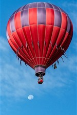 Preview iPhone wallpaper Two hot air balloon, blue sky, clouds