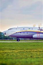 Preview iPhone wallpaper Ukraine, Antonov An-22 plane, airport