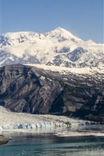 iPhone壁紙のプレビュー アラスカ国立公園、山、雪、湖、アメリカ