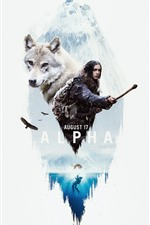 Preview iPhone wallpaper Alpha, girl and wolf, movie 2018