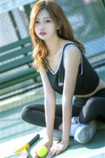 Preview iPhone wallpaper Asian girl, tennis, sport