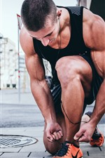 Preview iPhone wallpaper Athlete, fitness, man, muscle