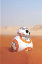 iPhone обои BB-8 робот, пустыня, Звездные войны