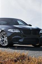 미리보기 iPhone 배경 화면 BMW F10 M5 검은 차 정면보기