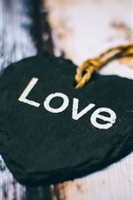 Preview iPhone wallpaper Black love heart, decoration