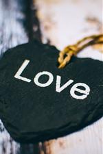 Coração preto amor, decoração