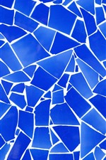 Preview iPhone wallpaper Blue fragmentation, cracks, texture background