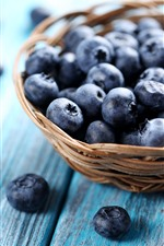 Preview iPhone wallpaper Blueberries, basket, hazy