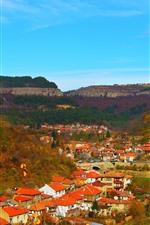 iPhone fondos de pantalla Bulgaria, ciudad, casas, vista superior