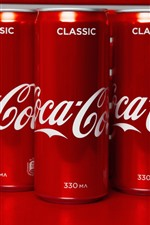 Coca-Cola, red jars, drinks