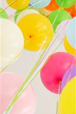 Preview iPhone wallpaper Colorful balloons, holiday