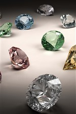 Preview iPhone wallpaper Colorful diamonds, jewel