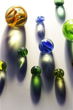 Preview iPhone wallpaper Colorful glass balls, big and small