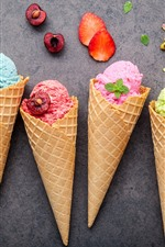 Preview iPhone wallpaper Colorful ice cream, fruit