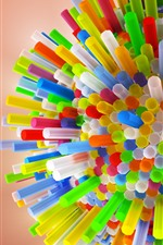 Preview iPhone wallpaper Colorful tubes
