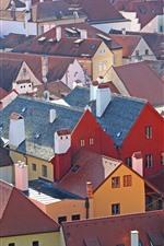 República tcheca, cidade, casas, vista superior, telhado