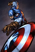 Preview iPhone wallpaper DC Comics heroes, Thor, Captain America, Iron Man, art picture